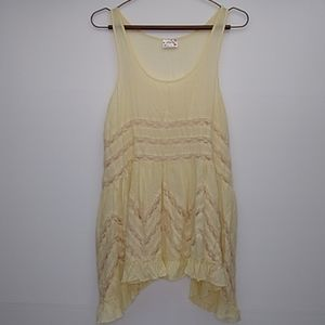 Anthropologie Free People Dress Mini Lace Cream XS